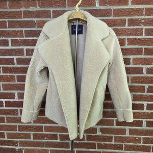 American Eagle Sherpa Coat Cardigan Cream
